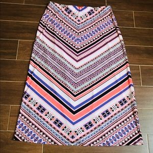 Dresses & Skirts - Color Pattern Maxi Skirt